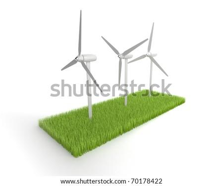 Wind Power. 3D illustration