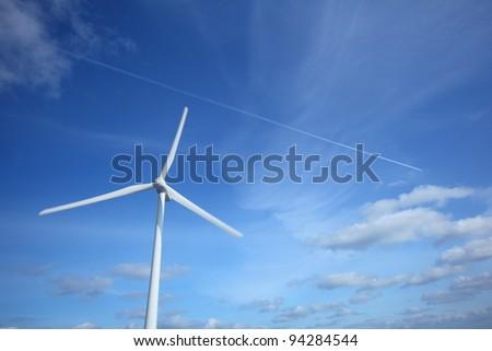 Wind power generation, Clean energy,  Ibaraki in Japan - stock photo