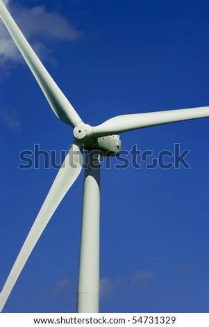 Wind power propeller closeup.
