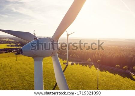 Wind Power Renewable Energy Plant Stock photo ©