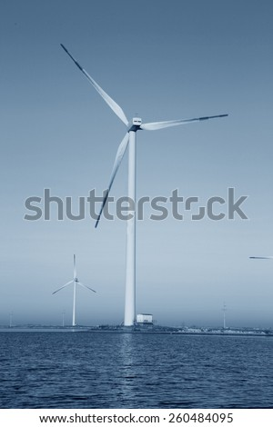 Wind power under the blue sky #260484095