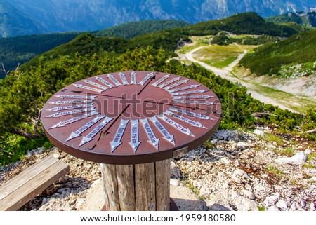 Wind rose in the mountains Vogel Slovenia Stockfoto ©