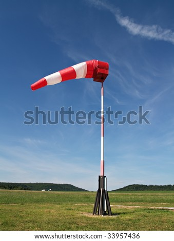 wind sock at small airfield