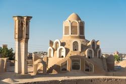 Wind tower of Borujerdi House in Kashan, Iran