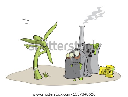 Wind turbine against nuclear power plant