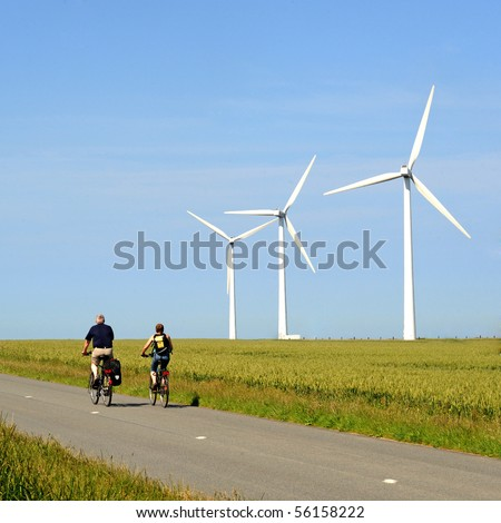 wind turbine and bike