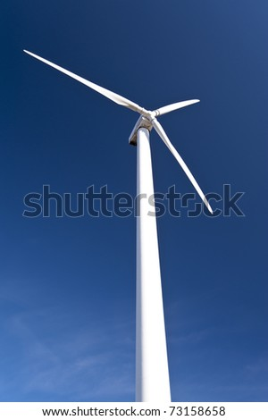 Wind turbine and blue sky