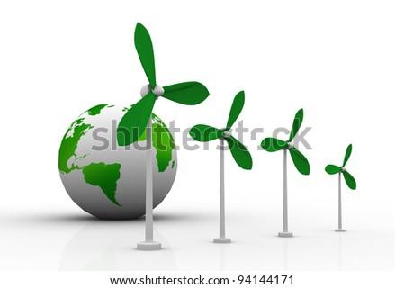 wind turbine and  world