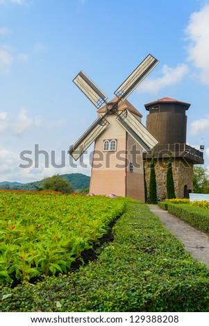 Wind Turbine at chonburi province (Thailand.)