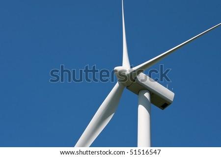 Wind turbine blades - stock photo