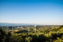 Wind turbine , bottom view - renewable energy source