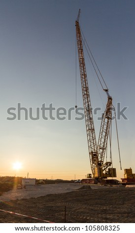 Wind turbine construction crane