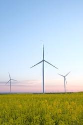 Wind turbine energy generator.  Gree energy power plant