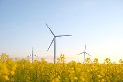 Wind turbine energy generator. Gree energy power supply.