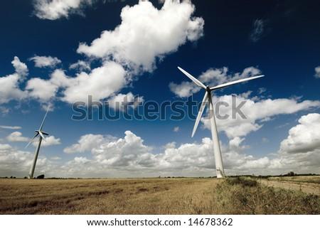 Wind Turbine farm within the UK.
