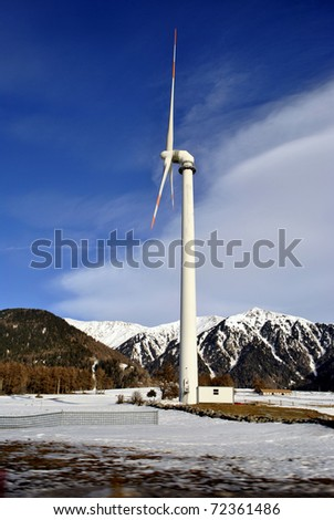 wind turbine for electricity production, green economy