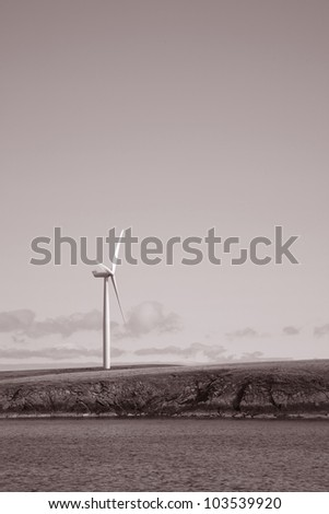 Wind Turbine in the Orkney Islands, Scotland