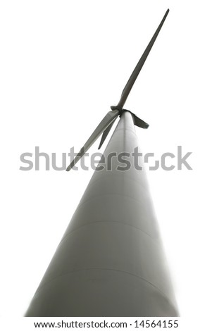 wind turbine isolated over white