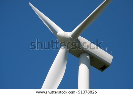 Wind turbine main rotor - stock photo
