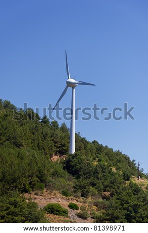 wind turbine on mountain
