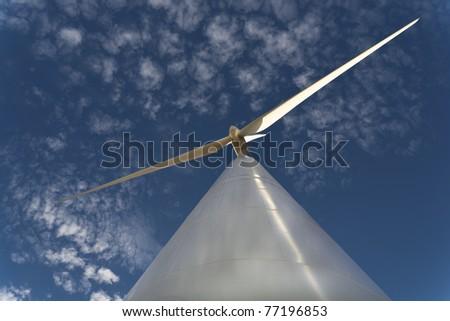 Wind turbine shot in Spain.
