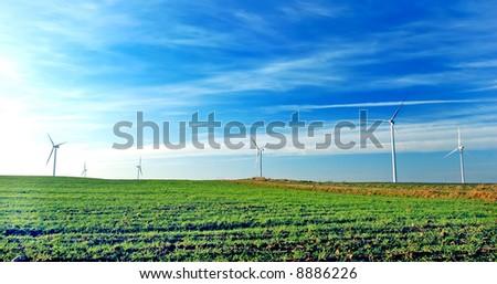 Wind turbines. Alternative sourse of energy