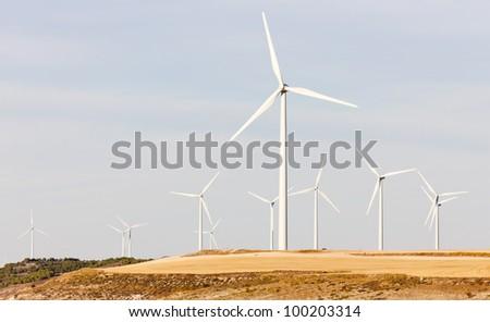 wind turbines, Castile and Leon, Spain
