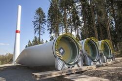 wind turbines construction site