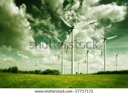 Wind turbines, ecology
