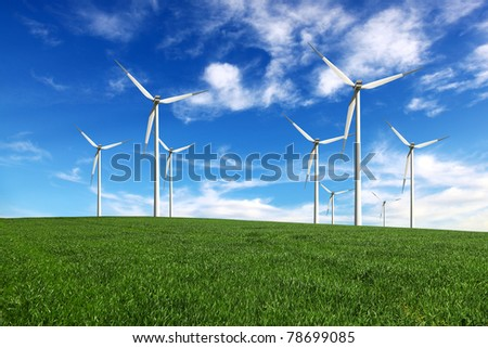Wind-turbines farm