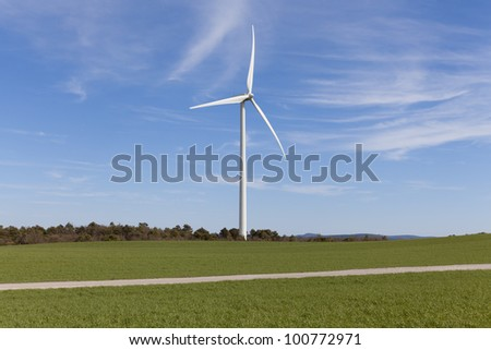 Wind turbines for renewable energy conversion located in Tarragona