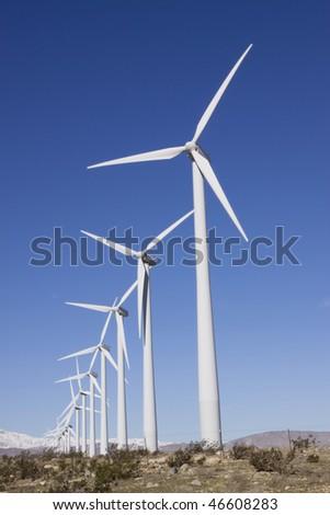 Wind turbines generating clean energy