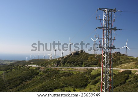 Wind turbines generating electricity in the South of Spain #25659949