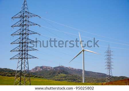 Wind turbines in Andalusia, Spain