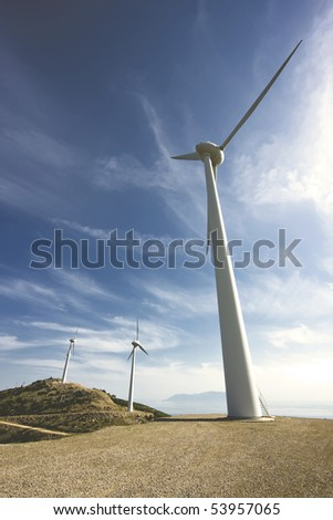 Wind turbines in north Greece