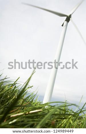 Wind Turbines in wind farm field