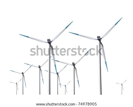 Wind turbines, isolated