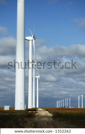 Wind turbines near White Deer, Texas.