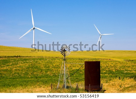 Wind turbines old and new