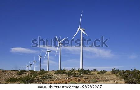 Wind Turbines on Alternative Energy Windmill Farm