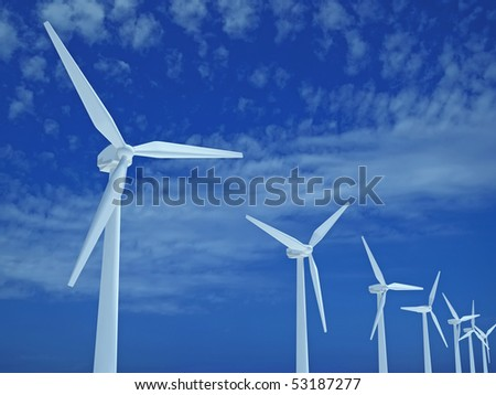 Wind turbines power station