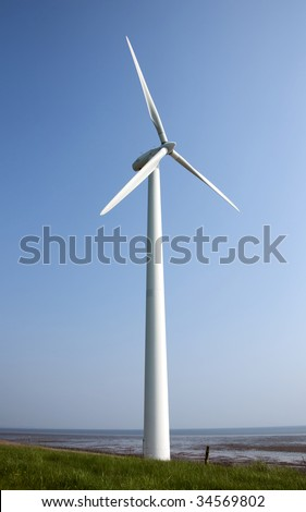 Wind turbines producing clean energy