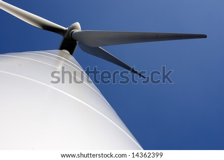 Wind turbines producing clean energy in the netherlands