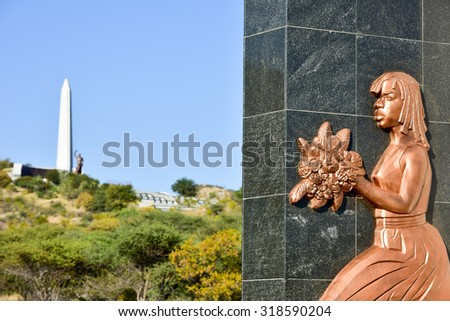 Windhoek, Namibia - May 25, 2015: Heroes\' Acre is an official war memorial of the Republic of Namibia