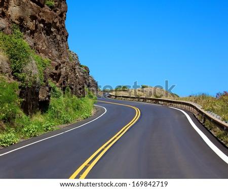 Winding highway along the Maui coastline #169842719