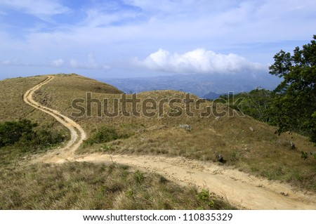 Winding mountain road, Panama,Central America