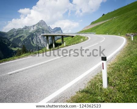winding road at the european alps - austria