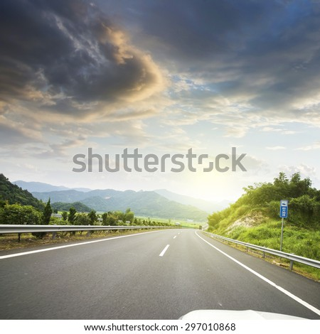 Winding road background #297010868
