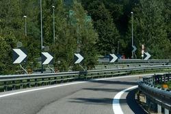 Winding road, Beautiful curved road, Asphalt road curve. High quality photo
