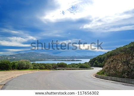 winding road in Gallura, Sardinia